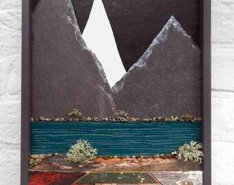 Mirror Mountain, reclaimed materials.