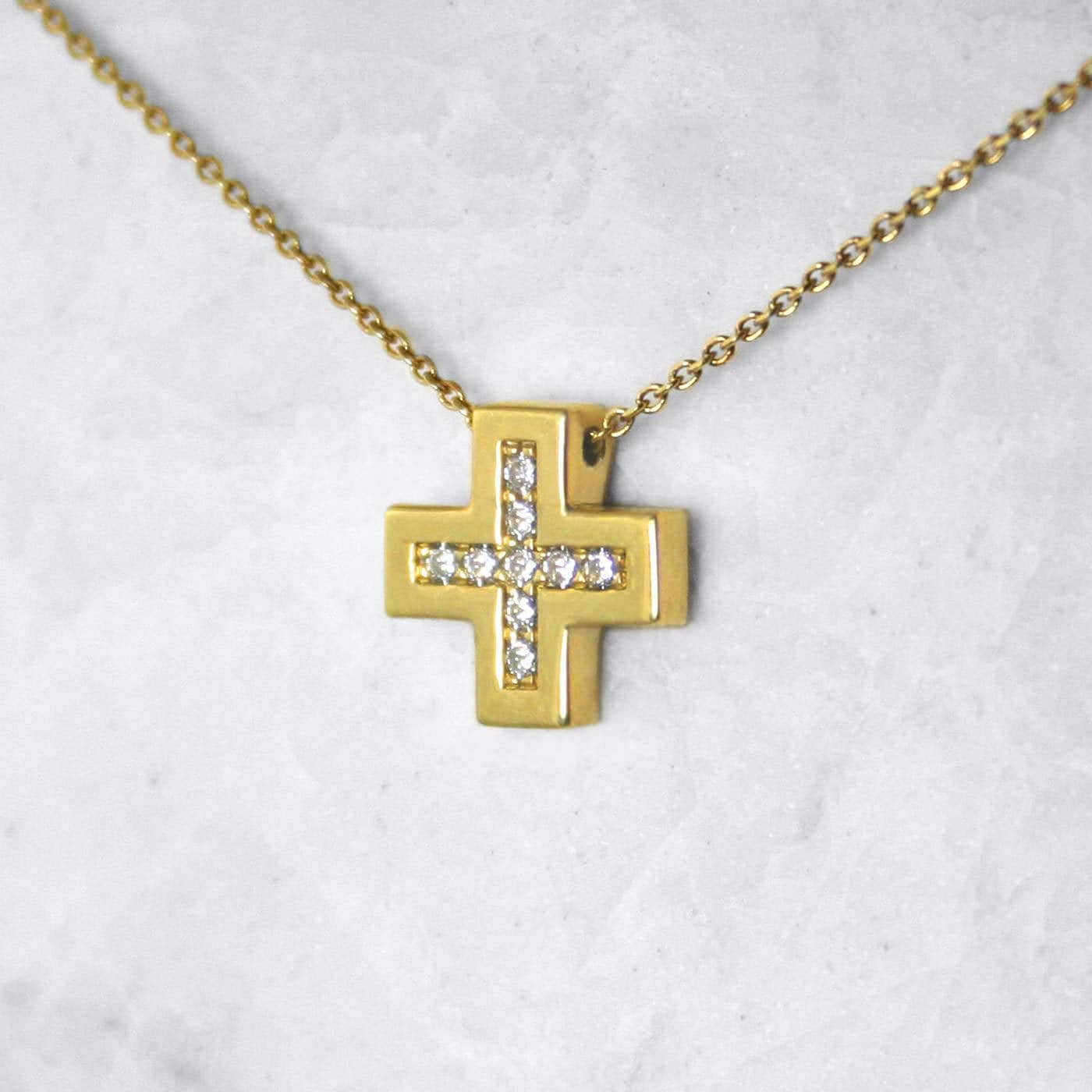 14 carat gold cross necklace jewellry
