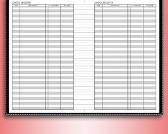 printable check register checkbook size
