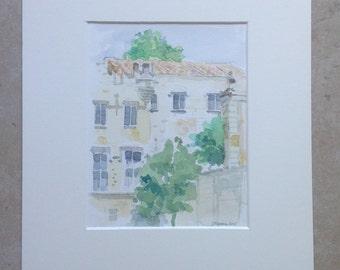 Avignon Petit Palais watercolor painting watercolor waterverf