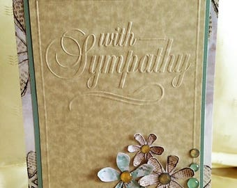 With Sympathy - Handcrafted Greeting Card w/verse - Sympathy Card - W/Heartfelt Messages