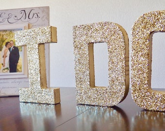 i do stand up letters double sided glitter letter wedding decor sweetheart table decor photo prop ships in 3 5 business days