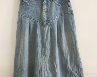 Vintage Lee skirt, high waisted denim
