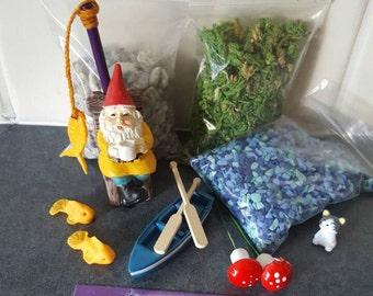 George Goes Fishing Fairy Garden Starter Kit