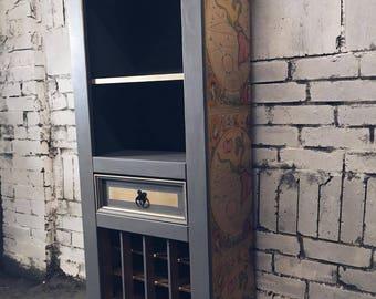 Solid Pine Corona Wine Cabinet