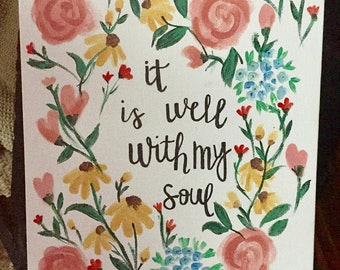 It Is Well With My Soul | Canvas
