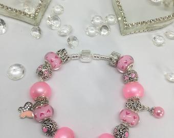 Pandora Style Charm Bracelet - Various Colours & Styles