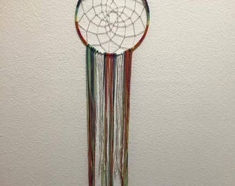 Rainbow Dream Catcher (Handmade)