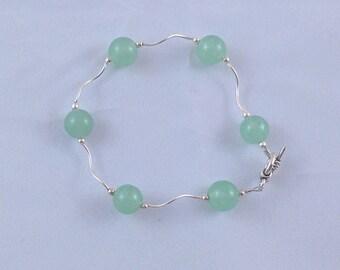 Green jade sterling sliver bracelets