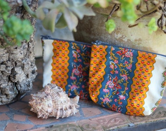 Colorful pouch (Provencal patterns) / Colored pouch (Provençal pattern)