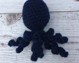 Handmade Cat Toys - Cute Cat Toy - Crochet Cat Toy - Catnip Toys - Octopus Cat Toy - Crochet Octopus - Cat Toys - Navy Blue - Catnip Toy