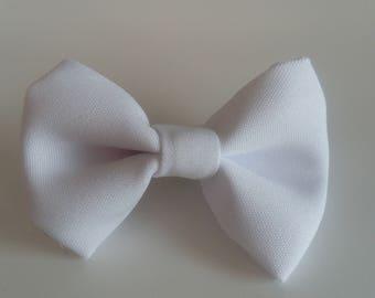 White bowtie hair clip