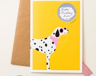 Dalmatian Dog Scratch Off Card - Write Your Message In Blank Space