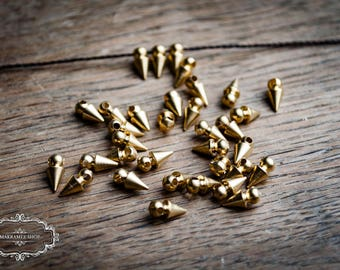 Brass beads spike / brass beads