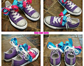 Girls bling Converse