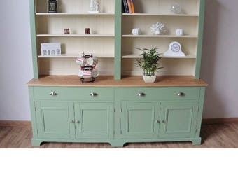 New solid pine&Oak 7ft painted Welsh dresser/dining/kitchen unit available in any farrow and ball colour