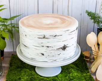 Birch Log Cake- Fake cake, prop cake, party decor