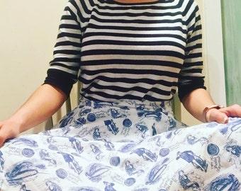 Narwhal Mermaid Sailor Skirt