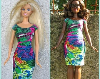 Elastic dress for Curvy Barbie