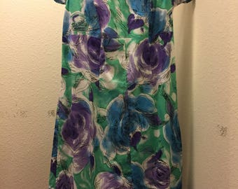 Lightweight Cotton Floral Fitted Dress