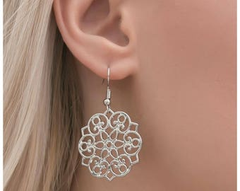 NEW Silver Elegant Earrings