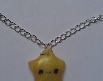 Star Citrine Quartz Kawaii necklace