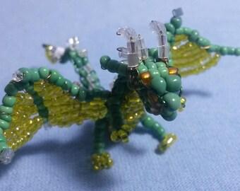 Green and Yellow Beaded Dragon
