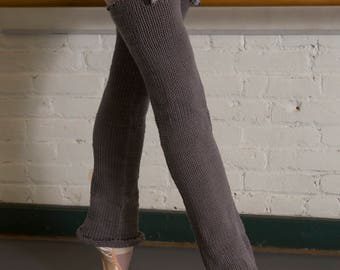 "WearWellCo ""Glissade Gray"" Long Legwarmers"