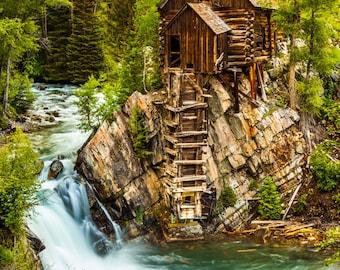 Crystal Mill // Abandoned // Mining // Colorado // Fine Art // Landscape Photography // Historic // Canvas // Giclée