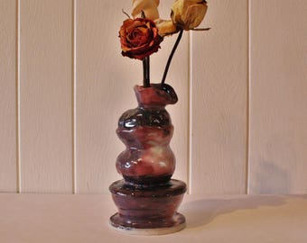 Ceramic Fountain Bottle Vase
