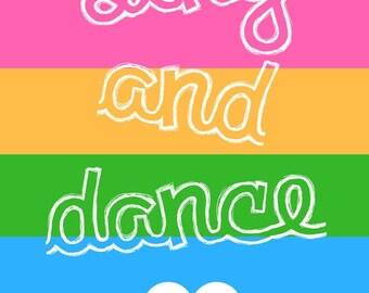 Sing and Dance Printable