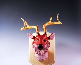 Fox Deer Hybrid Faux Taxidermy Mount