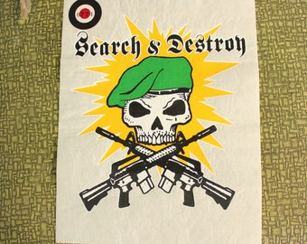 Search & Destroy heat press transfer iron on for t-shirts, sweatshirts
