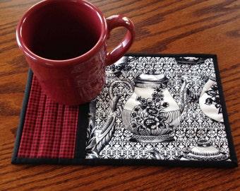 kits; pair of tea themed mug rugs
