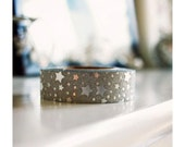 Silver sparkly washi tape with stars