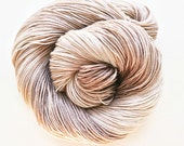 bone / hand dyed yarn / fingering sock dk bulky yarn / superwash merino wool yarn /single or ply/choose base/natural ecru beige neutral yarn