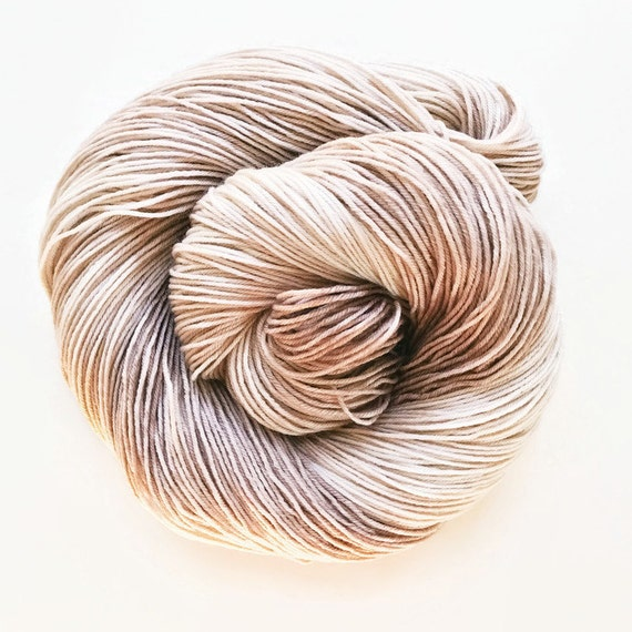 bone / hand dyed yarn / fingering sock dk bulky yarn / superwash merino wool yarn /single or ply/choose base/natural ecru beige neutral yarn