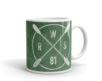 Personalized Kayak Paddle Monogram Mug- Personalized Gifts for Men- Kayak Mug- Coffee Mug- Kayak Gift