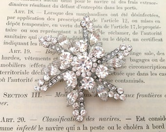 Starburst Crystal Brooch.Vintage Style Crystal Brooch.Crystal Bridal Brooch.Starburst Rhinestone Brooch.wedding Brooch Pin.Star Burst