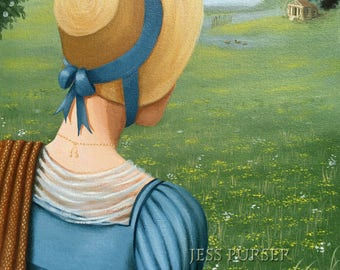 Jane Austen - The Lodge - Original painting