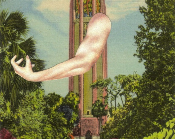 Weird Florida Postcard, Original Collage Art