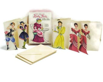 Vintage Gibson Stationery | Box of Lady Fair Letter-ettes Note Cards by Gibson