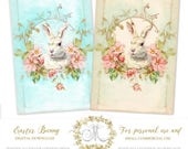 Easter Bunny Rabbit printables, instant digital download, Personal and small commercial use
