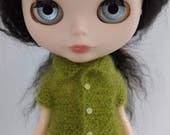 Blythe doll Helena Sweater knitting PATTERN - short sleeve reversible sweet sweater - instant download - permission to sell finished items