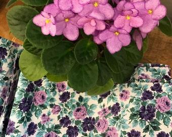 Purple Calico Vintage Fabric 5 yards! FREE SHIPPING!