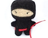 Ninja - Recycled Wool Sweater Plush Toy