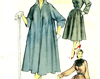Advance 5823 Tent Tunic Duster House Dress 1950s Bust 36 - 38 Raglan Sleeves