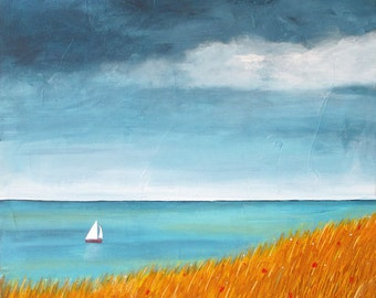 Sailboat,seascape,coastal,Shelagh Duffett Print