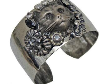 Cuff Bracelet | Silver | Cat