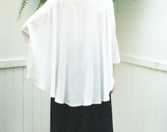 SALE Cape Shirt Marie. Black Loose Fit Women Shirt. Drapy Oversized Allover Texture Shirt. Oversized Top. Loose Shirt. Black Womens Blouse.